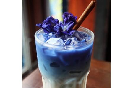 Голубой чай матча