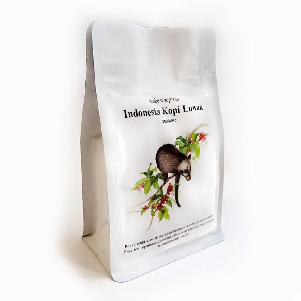 Кофе в зернах CUATTRO Indonesia Kopi Luwak (Индонезия)