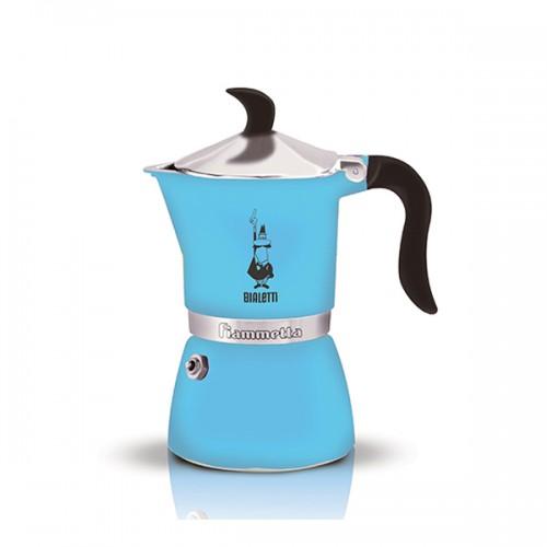 Гейзерная кофеварка Bialetti FIAMMETTA, голубая флуоресцентная, 3 порции, Арт. 4632