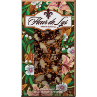 """Шоколад темный """"Fleur de Lys""""с миндалём и бисквитной крошкой 100 г"""