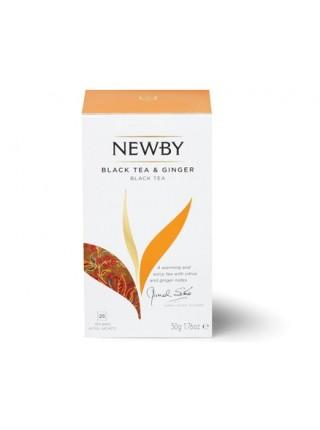 Newby Black Tea and Ginger / Черный чай с Имбирем (25 пакетиков по 2 гр)