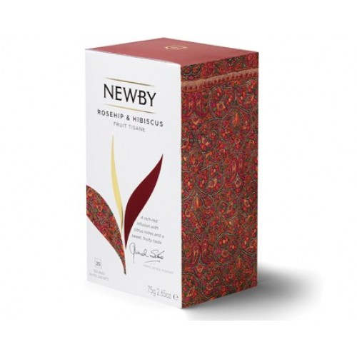 Newby Шиповник и Гибискус (25 пакетиков по 3 гр)
