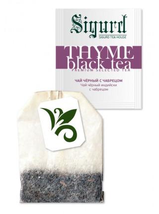 Чай чёрный THYME BLACK TEA с чабрецом (30 пакетиков по 2 гр)